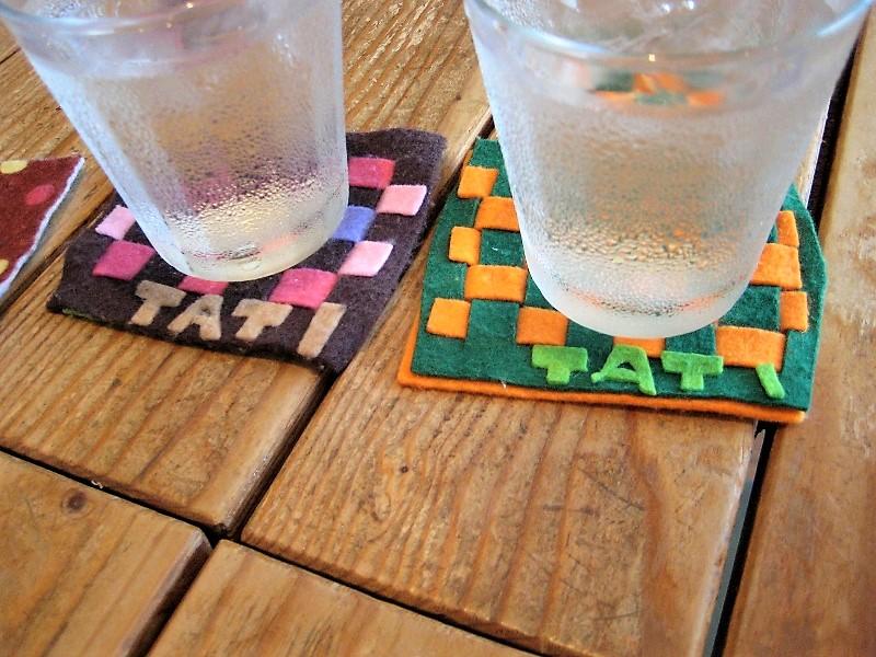 伊豆のカフェcafe TATIのコースター