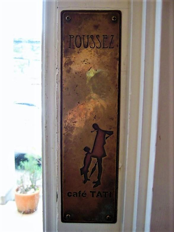 静岡県伊東市のカフェcafe TATIのドア