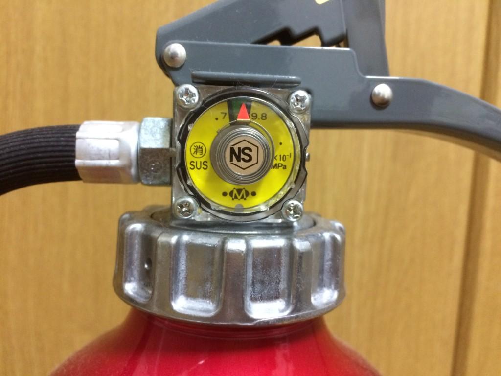 消火器アルテシモの圧力計