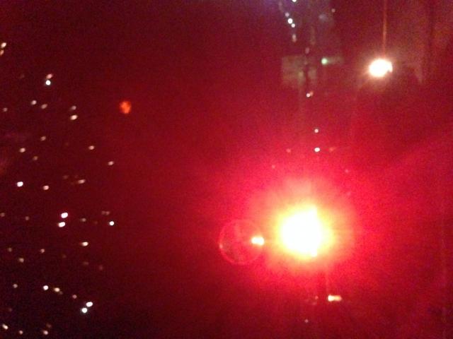 パトカーの光
