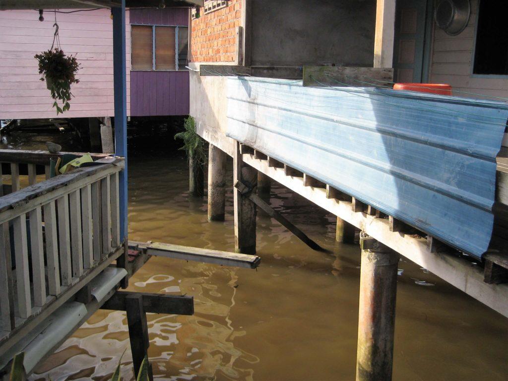 ブルネイの水上集落の様子