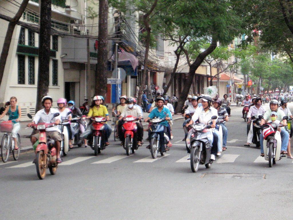 ベトナムのバイク天国の様子